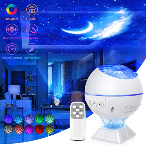 Galaxy Star Projector Night Light Galaxy Nova Projector with 40 Colors Mini Galaxy 360 Pro Nebula Cloud for Bedroom Ceiling Car Adults Kids Gift