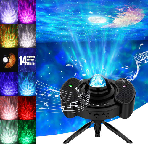 Star Projector Night Light Galaxy Sky Lite with Blue tooth Music Speaker Nightlight Mood for Bedroom, Home Theater, Game Rooms or Party Decoration, Gifts for Kids