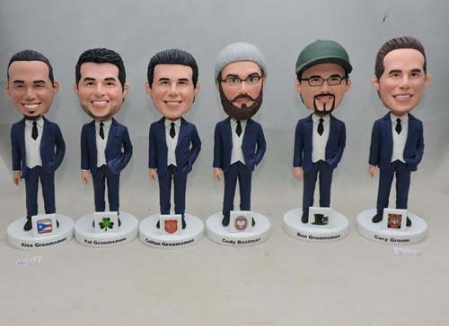 Create bobblehead for your groomsmen