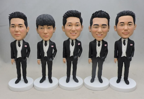 Groomsmen bobbleheads group