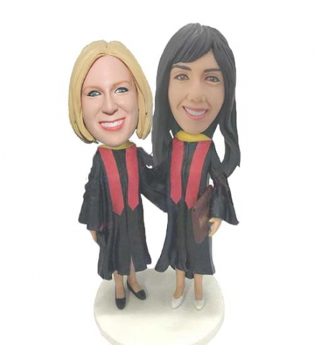Personalized Bobbleheads For Graduation Gift, Custom College Student Bobbleheads