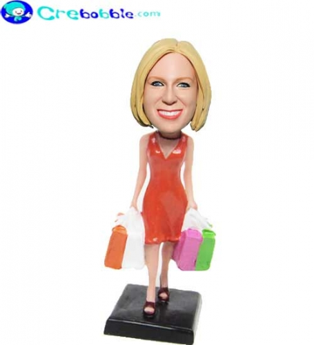 Shopaholic bobble head doll