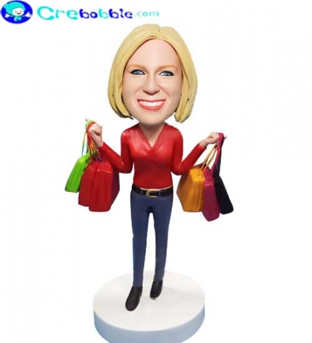Personalized female bobblehead
