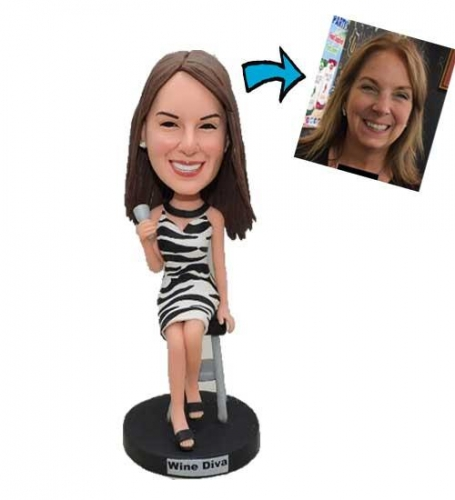 Bobblehead Custom with Leopard Dress