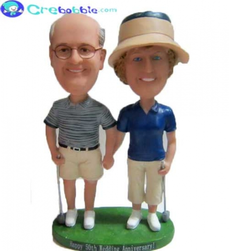 Custom Golf Couple Bobblehead Dolls