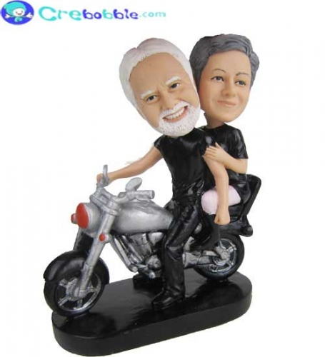 Couple on Harley Davidson bobbleheads