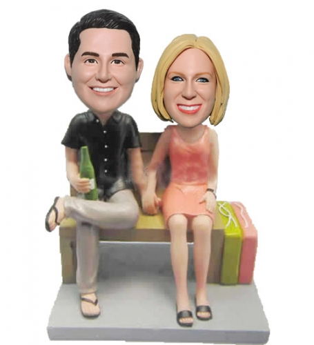 Custom Bobbleheads Beer Man Shopping Woman