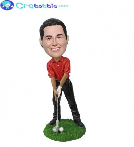 Custom bobble head golf gifts