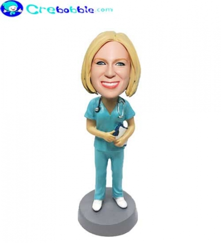 Nurse bobble head doll custom