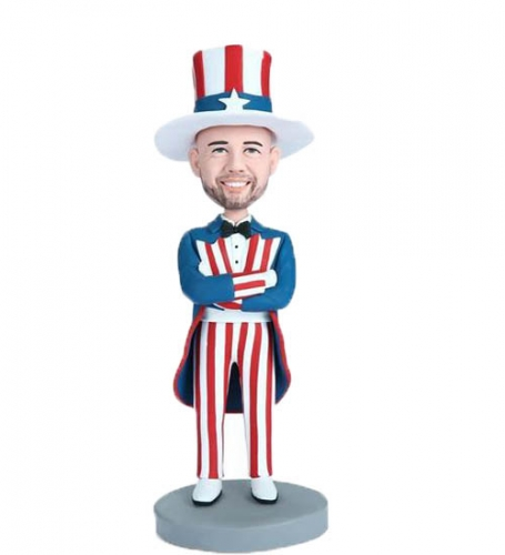 Bobblehead doll Uncle Sam