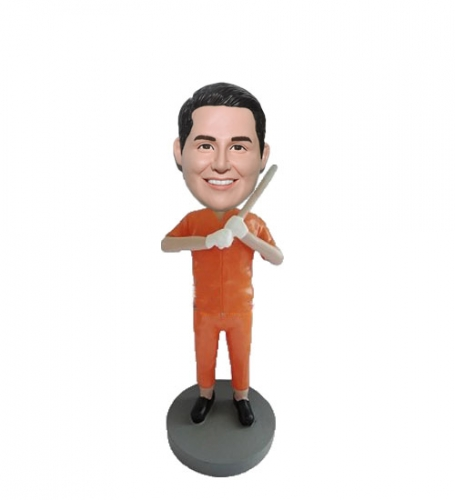 Bobbleheads in Prison Jumpsuit