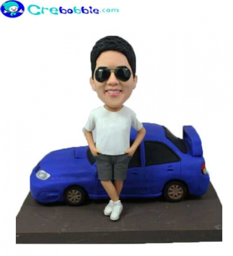 Bobblehead with Car