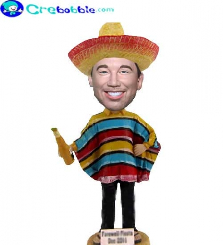Personalized bobblehead in Mexican Costume