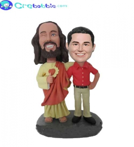 Personalised bobble heads Jesus and me