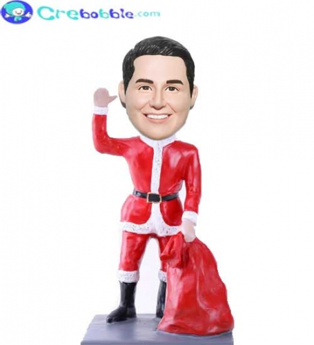 Custom Made Bobblehead dolls Santa