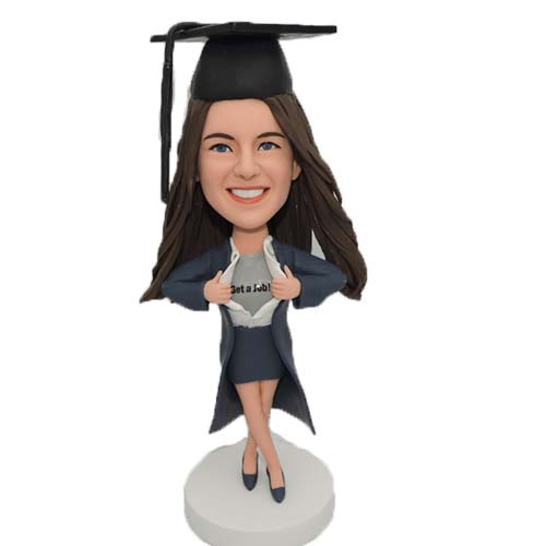 Supergirl Bobblehead Custom in Graduation Gown