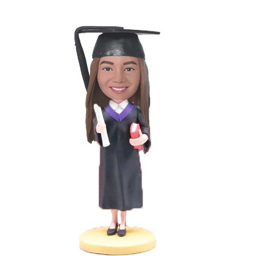 Custom Graduation Bubblehead with Diploma and Book