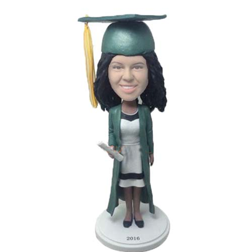 Graduation Cake Topper Bubblehead