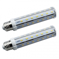 E26/E27 Base T10 LED Tubular Light Bulb 15W Warm White Daylight 85-265V AC Volts LED Corn Bulb (Pack of 2)
