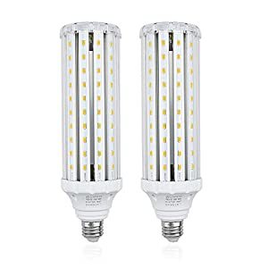 Bonlux Medium Screw E26 Base LED Corn Bulb 45W AC 85-265V Daylight 6000K - 400W Halogen/150W CFL Replacement Bulb for Garden Street Area Lighting Garage Factory Warehouse Highbay LED Retrofit Bulb(1 Pack)