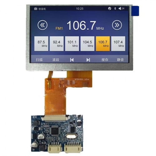 4.3inch Cm/HS TFT LCD Screen with Driver Board Apply for Video Door Phone and Automative