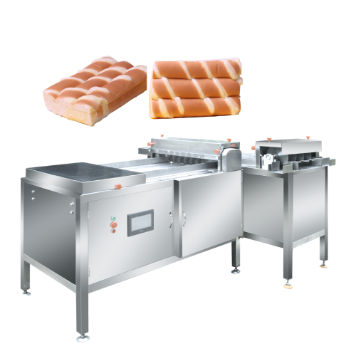 Stainless steel industrial Bread loaf double cutting machine