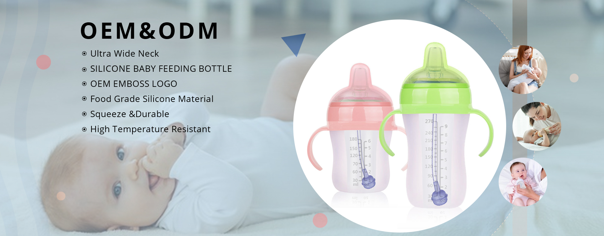 2in1 Soft Silicone Baby Feeding Bottle