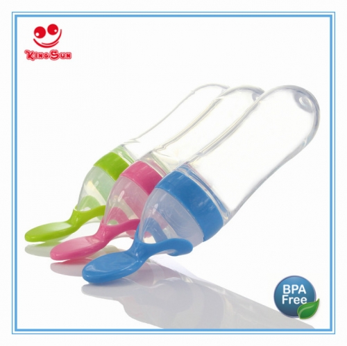 90ml Silicone Squeeze Feeder With Plasitc Spoon