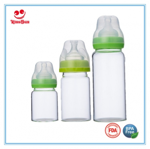 Wide Neck Borosilicate Glass Baby Bottles For Nursing Infant