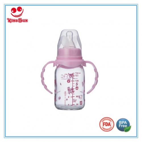 4oz/8oz Regular Neck Straight Shape Glass Baby Bottles