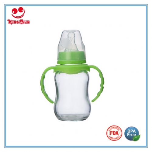 Arc Shaped Glass Baby Bottle for Newborns 4oz/8oz