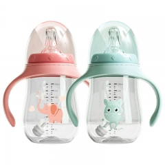 240ML Plastic Baby Bottles With Handle