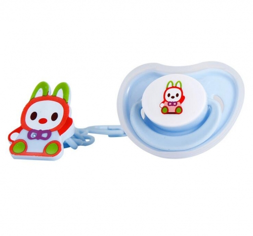 Baby Pacifier with Chain Clips