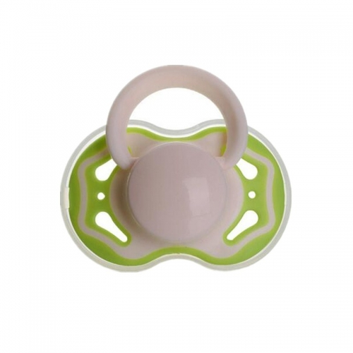 Double Colors Silicone Nipple Pacifier for Newborn Baby