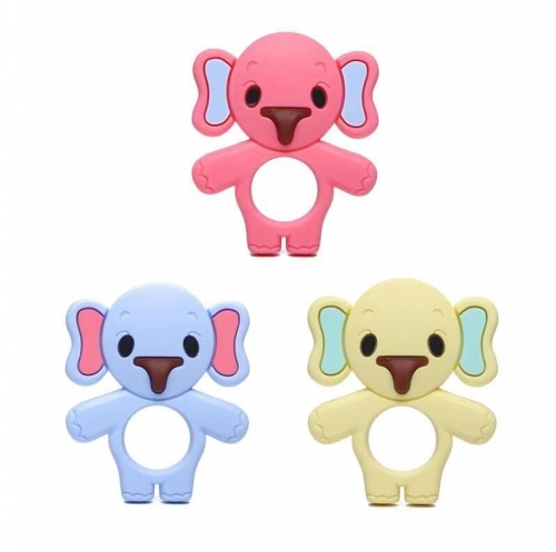 Dummy Elephant Colorful Silicone Customized Baby Teethers