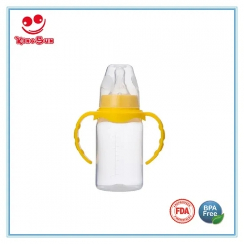 120ml/240ml Straight Standard Neck Baby Bottle With Handle