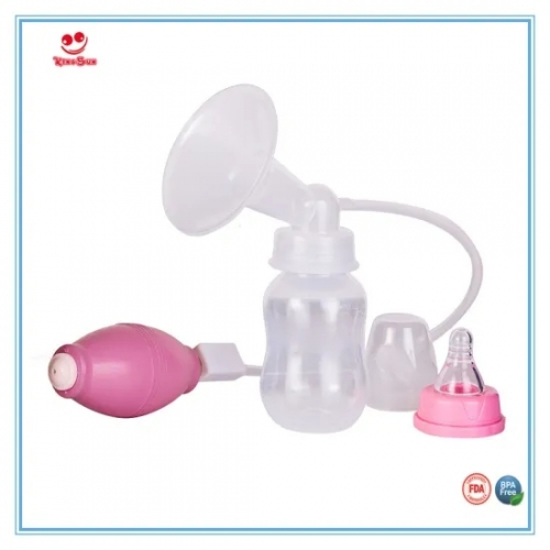 Breast Relever Pump Feeding Use Manual Breast Pump with Bottle