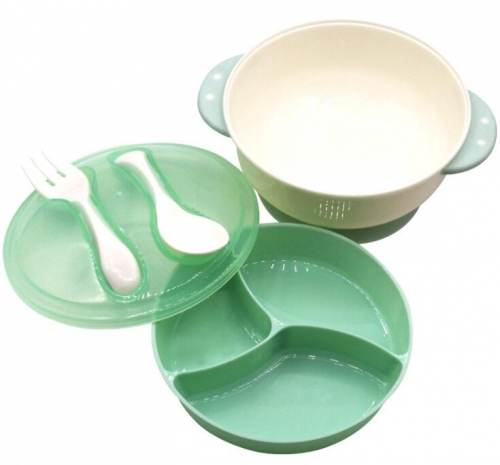 High Quality Baby Feeding Bowl Cutlery With Suction Base