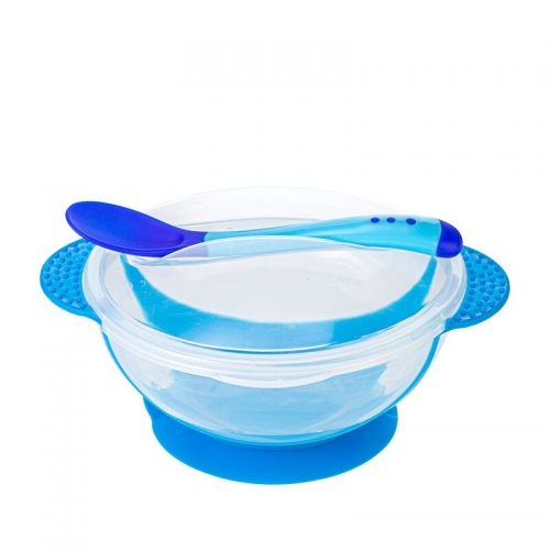 Baby Suction Feeding Bowl with Sensor Spoon