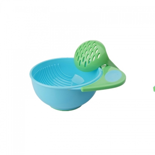 Manual Plastic Baby Feeding Grind Bowl