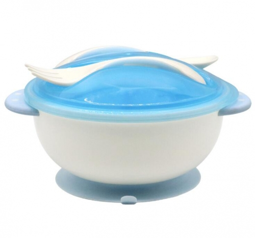 High Quality Baby Feeding Cutlery With Suction Base