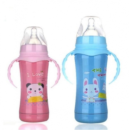 Thermos Insulated Baby Feeding Bottle with Handles 180ml/240ml