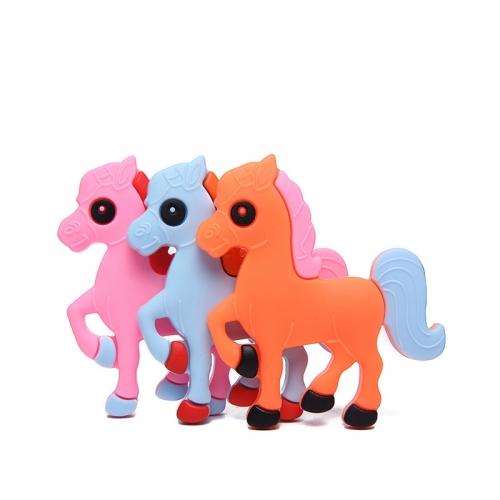 Cute Horse Silicone Teething Toy