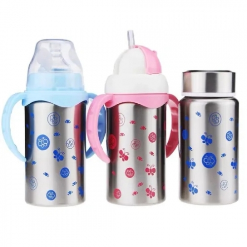 3 in 1 Insulated Stainless Steel Baby Feeding Bottle 180ml/240ml
