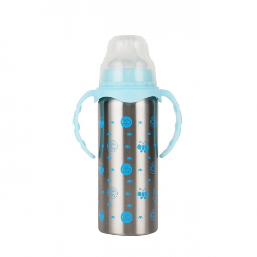 240ml Stainless Steel Double Wall Vacuum Thermos Baby Bottle