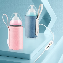 Durable Leather Portable Intelligent Temperature Control Baby Feeding Milk Bottle Warmer USB
