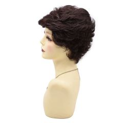 Black Short Wavy Classic Full Wigs Layered for Women Natural Looking Heat Resistant Replacement Wig For Women Breathable and Comfortable. Women's Hair