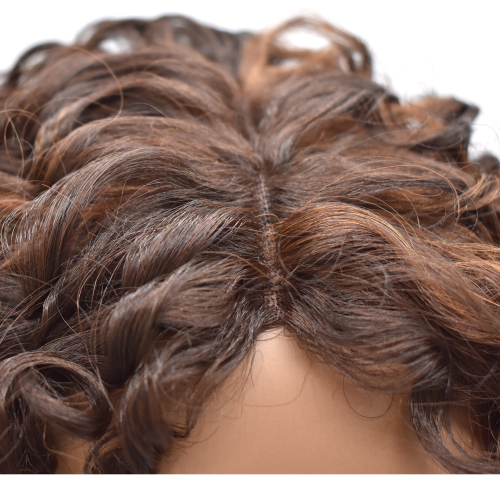 LyricalHair Lace Front Wig Afro-American Curly Hairpiece Top Quality Synthetic Full Cap Hair System Natural Hairline