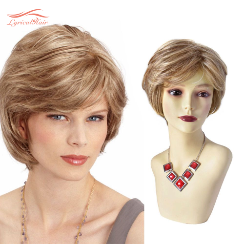 Pixie Cut Wigs Short Stylish Fluffy Layered Wigs Replacement Wigs with Side Bangs Breathable and Comfortable Women's Hair System. #R1085A