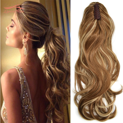 "Long Wavy Chic Claw Jaw Clip Ponytail Flirty-Layered Texture Pony 22"" Hair Extension SE224"
